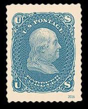 1861 1-cent Benjamin Franklin United States Postage Stamp | Classics Forever
