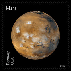 Mars United States Postage Stamp | Views of Our Planets
