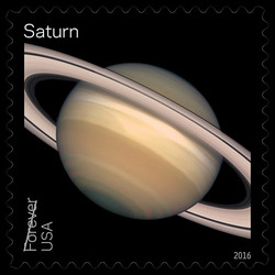 Saturn United States Postage Stamp | Views of Our Planets