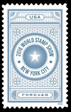 2016 World Stamp Show - Blue United States Postage Stamp | World Stamp Show-NY 2016 Folio