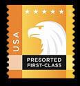 Orange-Yellow Eagle United States Postage Stamp | Spectrum Eagle