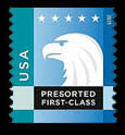 Aqua-Blue Eagle United States Postage Stamp | Spectrum Eagle