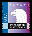 Blue-Purple Eagle United States Postage Stamp | Spectrum Eagle