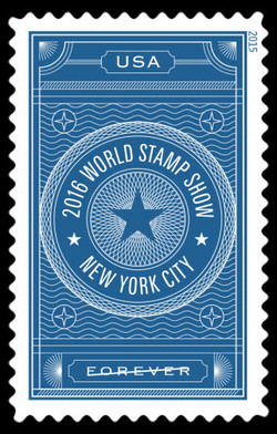 2016 World Stamp Show - Blue United States Postage Stamp | World Stamp Show–NY 2016