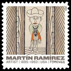 Man Riding Donkey - Circa 1960-1963 United States Postage Stamp | Martin Ramirez