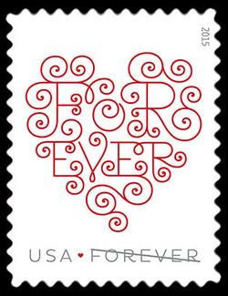 Forever Heart - White United States Postage Stamp | Love