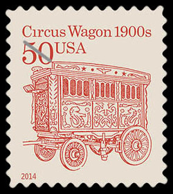 Circus Wagon 1900s United States Postage Stamp