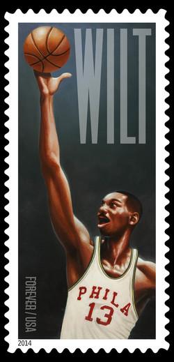 Wilt Chamberlain - Philadelphia Warriors United States Postage Stamp | Wilt Chamberlain