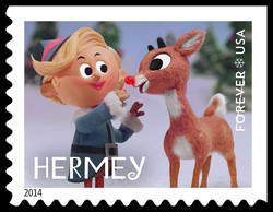Hermey United States Postage Stamp | Rudolph the Red-Nosed Reindeer