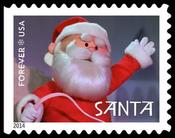 Santa Claus United States Postage Stamp | Rudolph the Red-Nosed Reindeer