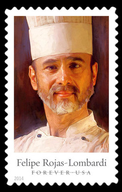 Felipe Rojas-Lombardi United States Postage Stamp | Celebrity Chefs