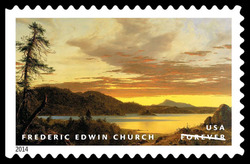 Sunset - Frederic Edwin Church United States Postage Stamp | American Treasures