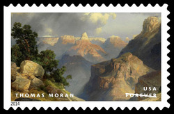 Grand Canyon - Thomas Moran United States Postage Stamp | American Treasures