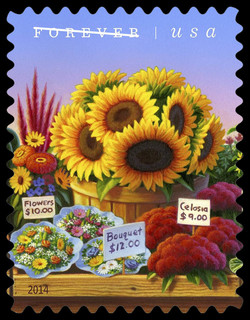 Cut Flowers United States Postage Stamp | Farmers Markets