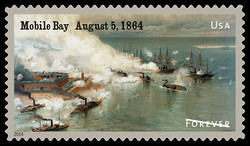 Battle of Mobile Bay, Alabama United States Postage Stamp | Civil War Sesquicentennial