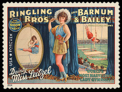 Dainty Miss Leitzel United States Postage Stamp | Vintage Circus Posters