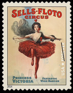 Princess Victoria - Sells-Floto Circus United States Postage Stamp | Vintage Circus Posters