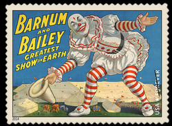 Clown United States Postage Stamp | Vintage Circus Posters