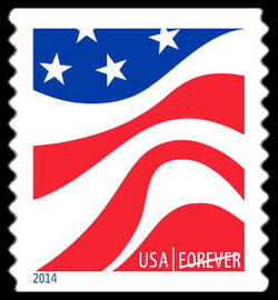 Red, White, and Blue - Flag #2 United States Postage Stamp | Red, White, and Blue