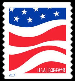 Red, White, and Blue - Flag #3 United States Postage Stamp | Red, White, and Blue