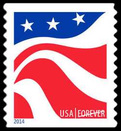 Red, White, and Blue - Flag #4 United States Postage Stamp | Red, White, and Blue