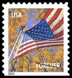 Fall Season Flag United States Postage Stamp | A Flag for All Seasons