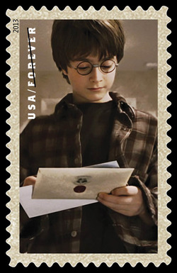 Harry Potter With Letters United States Postage Stamp | Harry Potter