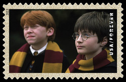 Harry Potter and Ron Weasley United States Postage Stamp | Harry Potter