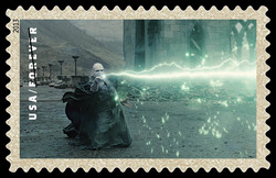 Lord Voldemort With Wand United States Postage Stamp | Harry Potter