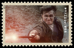 Harry Potter With Wand United States Postage Stamp | Harry Potter