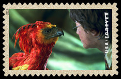 Fawkes the Phoenix United States Postage Stamp | Harry Potter