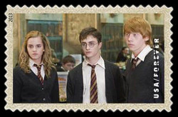 Harry Potter, Ron Weasley, and Hermione Granger United States Postage Stamp | Harry Potter