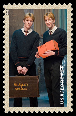 Fred and George Weasley United States Postage Stamp | Harry Potter