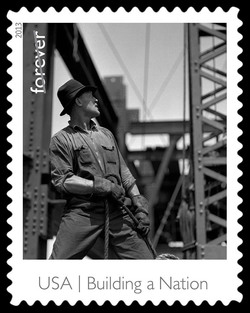 Derrick Worker on the Empire State Building United States Postage Stamp | Made in America - Building A Nation