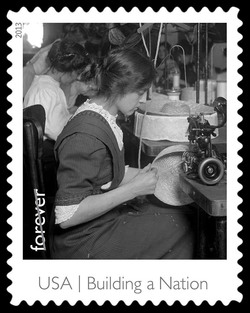 Millinery Apprentice United States Postage Stamp | Made in America - Building A Nation