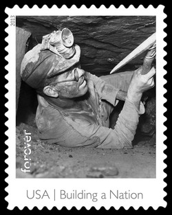 Coal Miner United States Postage Stamp | Made in America - Building A Nation