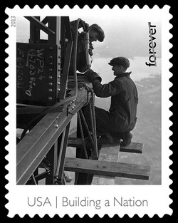 Riveters on the Empire State Building United States Postage Stamp | Made in America - Building A Nation