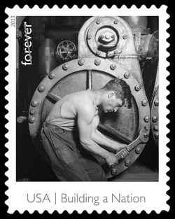 Powerhouse Mechanic United States Postage Stamp | Made in America - Building A Nation