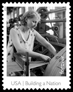 Textile Worker United States Postage Stamp | Made in America - Building A Nation