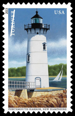 Portsmouth Harbor Lighthouse - New Hampshire United States Postage Stamp | New England Coastal Lighthouses