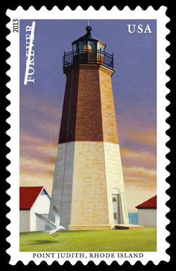Point Judith - Rhode Island United States Postage Stamp | New England Coastal Lighthouses