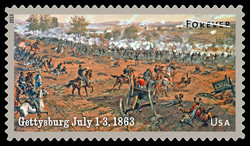 Gettysburg 1863 - The Civil War United States Postage Stamp | Civil War Sesquicentennial