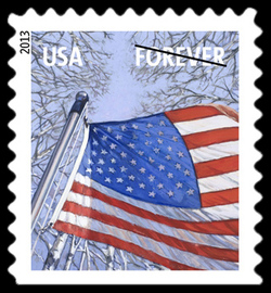 Winter Season Flag United States Postage Stamp | A Flag for All Seasons