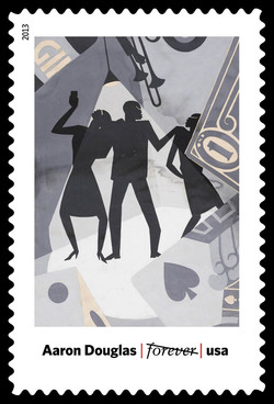 The Prodigal Son - Aaron Douglas United States Postage Stamp | Modern Art in America 1913-1931