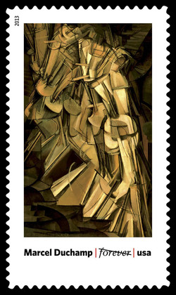 Nude Descending a Staircase, No. 2 - Marcel Duchamp United States Postage Stamp | Modern Art in America 1913-1931