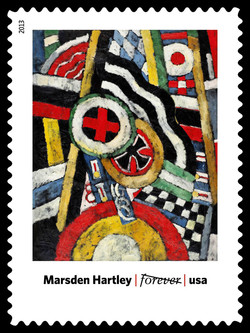 Painting, Number 5 - Marsden Hartley United States Postage Stamp | Modern Art in America 1913-1931