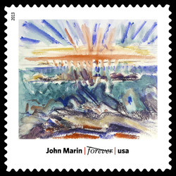 Sunset, Maine Coast - John Marin United States Postage Stamp | Modern Art in America 1913-1931