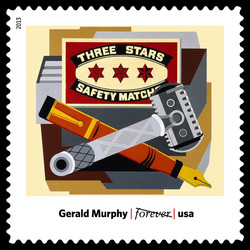 Razor - Gerald Murphy United States Postage Stamp | Modern Art in America 1913-1931
