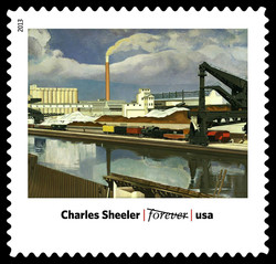 American Landscape - Charles Sheeler United States Postage Stamp | Modern Art in America 1913-1931
