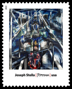 Brooklyn Bridge - Joseph Stella United States Postage Stamp | Modern Art in America 1913-1931